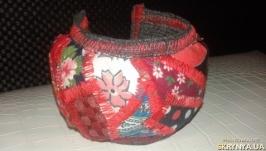 Браслет текстильный ′Пэчворк′№2