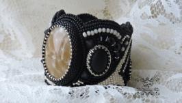 Вышитый бисером браслет ′Лунная дорожка′