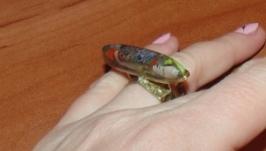 Кольцо ′Рассвет индейского шамана′