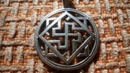 Кулон Щит Сварога (Валькірія , срібло)