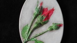 Панно Роза в бутонах