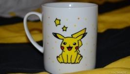Чашка с покемонами Пикачу
