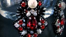 Серьги ′Красное и чёрное′