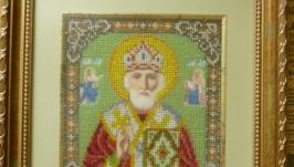 Ікона бісером ′Св. Миколай′