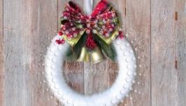 Новогоднее украшение на стену  дверь декоративный венок «Classic», эксклюз