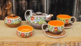 Чайний набір на дві персони ′Вінок′ жовтий