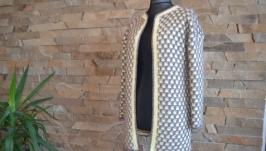 Пальто-кардиган ′Соты′