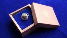 Вышитое кольцо ′Букетик′