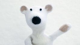 Мишка - игрушка на руку. медведь для театра. би-ба-бо