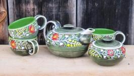 Чайний набір ′Вінок′ зелений