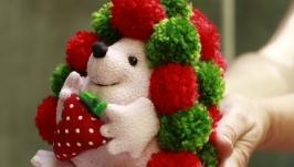 Ежик, текстильная игрушка