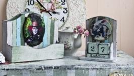 Канцелярский набор  Вечный календарь и органайзер  в стиле Алисы)