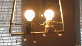 Светильник ручной работы ′Влюбленная пара′
