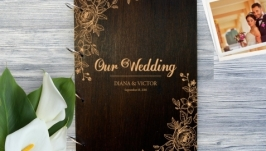 Фотоальбом в деревянной обложке ′Цветы′