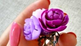 Кольцо из полимерной глины ′Первый поцелуй′