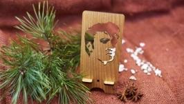 Подставка под мобильный телефон ′Пресли′ из натурального дерева