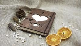 Блокнот ′I love you′ из фанеры на кольцах