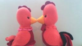 вязані іграшки півники