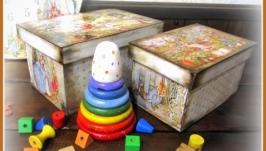 Короби для іграшок На гостину до кроликів