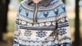 Чоловічий светр ′Зимова картина′
