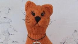 Кот вязаный ′Рыжуля′. Рыжий кот. Интерьерная игрушка