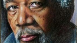 Морган Фримен (цветной портрет)