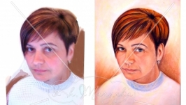 Портрет кольоровий (пастель)
