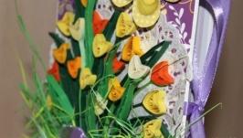 Тюльпановая шоколадница (фиолетово-желтая)