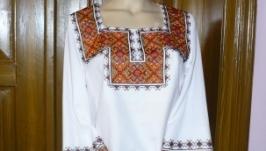 Жіноча сорочка, вишита бісером