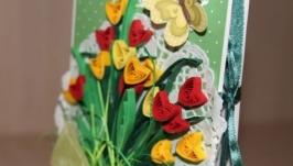 Тюльпановая шоколадница (зелено-желто-красная)