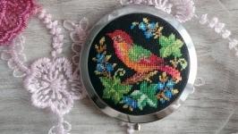 Зеркало карманное подарочное ′Птица счастья′