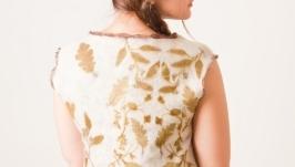 Блуза туника валяная. Нуновойлок. Бохо, эко стиль, эко принт