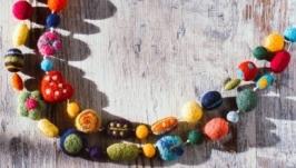 Намисто з вовни  ′Дитяча фантазія′