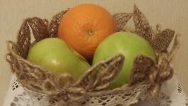 Корзинки из мешковины для фруктов,цветов