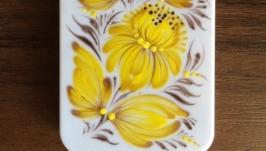 Чехол на мобильный телефон с ручной росписью Петриковка, для iPhone 5, 5S
