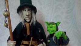 Фигурка ′Сказочный волшебник и тролль′.