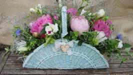 Корзина для цветов ′Ода пиону′