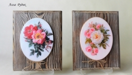 Комплект панно ′Страстная и нежная роза′
