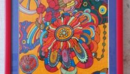 Абстрактная графика ′Летние цветы′