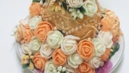 Необычная кружка декорированная цветами