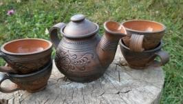 чайник і 4 чашки