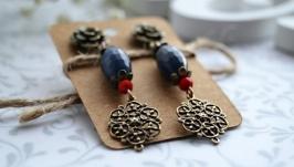 Сережки ′Синій вечір′