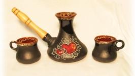 Набір кавовий Валентинка 270 мл. чорний