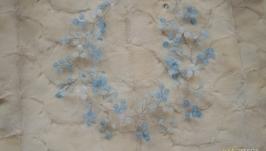 Небесно-голубая свадебная веточка из аквамаринового кварца ′Небеса′