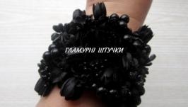 Браслет ′Чорні квіти′