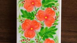 Чехол на мобильный телефон с ручной росписью Петриковка, чехол для iPhone 5