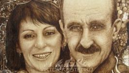 Пирография. Семейный портрет.
