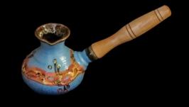 Турка мала , декор крайка, блакитна