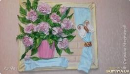 Продаю авторскую картину из кожи ′Розовые рози′