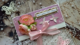 Конверт для денег ко Дню рождения женщины.